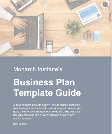Monarch business plan template